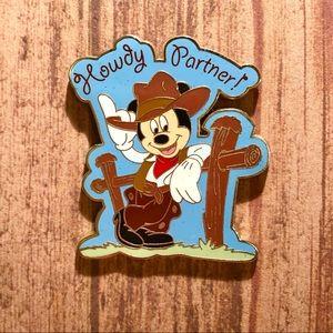 Cowboy Mickey Howdy Partner 2006 Disney Pin
